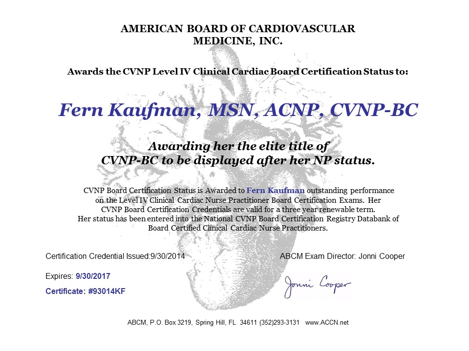 Organizations That Need To Validate A Cardiovascular Credential For